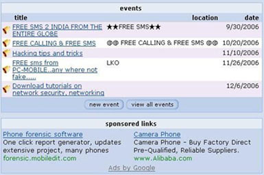 Google Text ads on Orkut